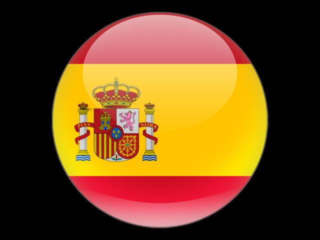drapeau espagnol rond